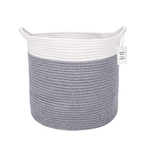 Puin opbergtas/puin basket/opslag mand katoenen touw mand gevlochten natuurlijk Basket Wasserij van de baby Basket Toy Storage Organizer, D35 X H33cm - Large,Rope wasgoed