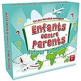 Quiz auf der Welt, Lernspiel, Familien-Gesellschaftsspiel für Kinder und Erwachsene, Kartenspiel | Kinder gegen Eltern rund um die Welt | 52 Karten | 208 Fragen | ab 8 Jahren