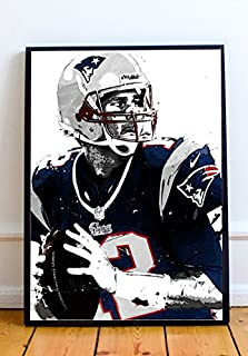 Tom Brady Limited Poster Artwork - Professional Wall Art Merchandise (More Sizes Available) (8x10)