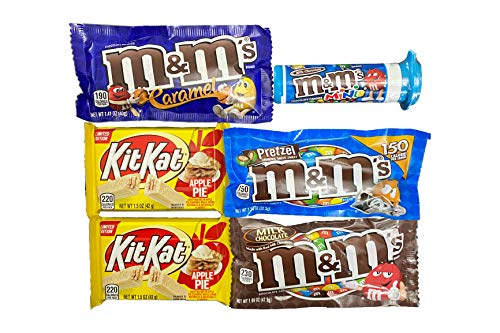 Chocolate Candy Assortment Gift Box - Variety Pack of M&Ms and Limited Edition Chocolate Bars (6 count)