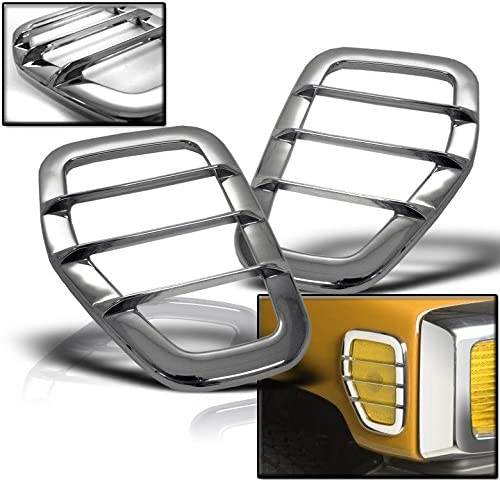 ZMAUTOPARTS Side Marker Very popular! Light Max 44% OFF Covers Left+Righ Guard Trim Chrome