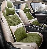 Car Seat cover set, cómodo piezas de automóvil, llenado de alforfón, transpirable y resistente al desgaste, conveniente para todas las estaciones,C