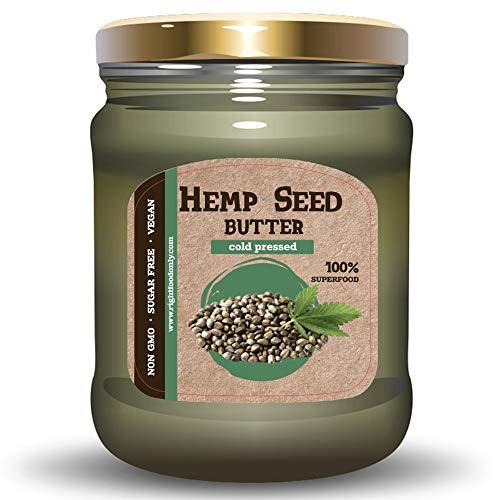 Mantequilla de Semilla de Cáñamo Urbech 8oz (230gr) Aceite de Semilla Sin OMG - Sin Azúcar - Proteínas Veganas 100% Superalimento
