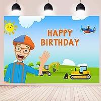 男の子のための背景誕生日の写真blippi建設の背景写真の背景キッズ写真の背景結婚式のお祭りテーマパーティー子供の誕生日新生児の写真撮影