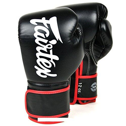 Fairtex Boxeo bgv14–Black–Guantes de boxeo MMA Kickboxing Sparring Muay Thai, negro