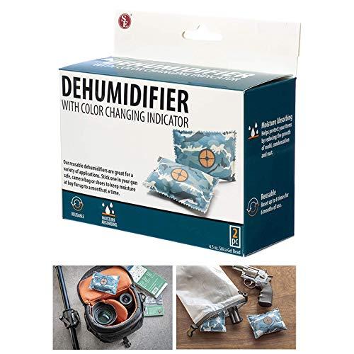 2 Pc Reusable Dehumidifier Bags Gun Safe Moisture Damp Absorber Storage Drying