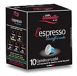 Caffè Trombetta L'Espresso, Capsule Compatibili Nespresso, Decaffeinato - 10 Capsule