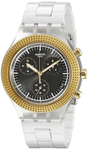 Swatch Reloj Unisex SVCK4081AG Irony analógico de Cuarzo Suizo Blanco