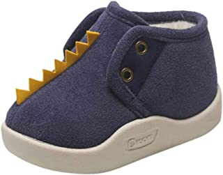Baby Girls Boys Fleece Booties - Cartoon Cotton Lining Soft Suede Infant Boots Non-Slip Walker Shoes Winter