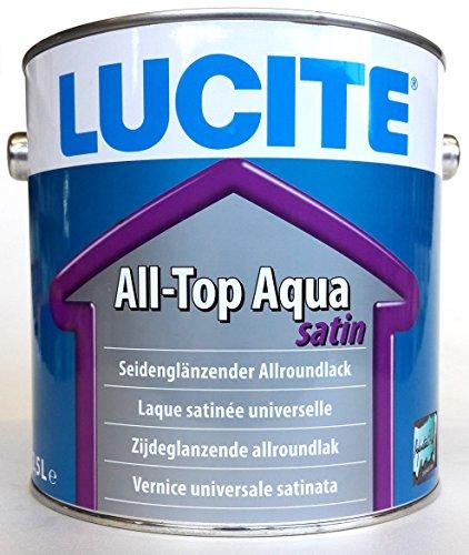 LUCITE All-Top Aqua satin, 2,5L - Seidenglänzender, wasserbasierter, dickschichtiger Allroundlack auf Spezial-Acrylatbasis. Ein-Topf-System zur Grund- u. Decklackierung im Innen- und Außenbereich.