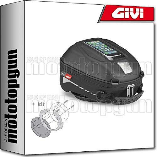GIVI TANKRUCKSACK TANKLOCK ST602B + BEFESTIGUNGSRING KOMPATIBEL MIT BMW R 1200 GS 2004 04