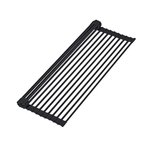 Hivexagon Escurridor de platos enrollable de acero inoxidable multipropósito Estante de secado o platos y drenaje 20.5