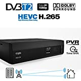 Crypto ReDi 270P 1080P Full HD 1080P DVB-T2 HEVC Decoder Digitale Ricevitore Terrestre sistema Dolby Lettore multemediale (H.265/ MPEG-2/4/ HDMI/ SCART/ PVR/ TIMESHIFT) nero