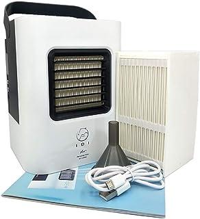 KTLF-LEI Aire Acondicionado Portátil-Climatizador Evaporativo, 3-en-1 Mini Ventilador Humidificador Purificador de Aire USB Aire Acondicionado Oficina del Dormitorio,Black