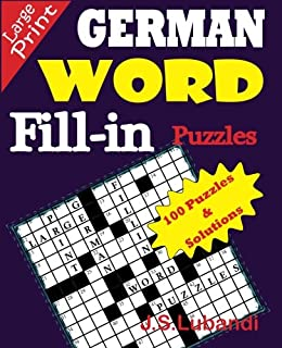 GERMAN Word Fill-in Puzzles (Volume 1) (German Edition)