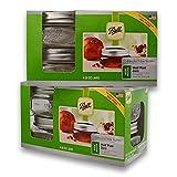 Ball (2 Packs) Mason Wide Mouth Half Pint Jars-8oz-4 Per Box-Total 8, 8 oz Jars, GREEN
