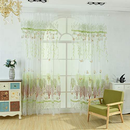 kexinda Schmetterling Willow Blumen Tüll Vorhang Balkon Wohnzimmer Semi Sheer Jalousie Tür Raumteiler Voile Vorhänge