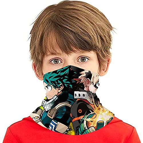 asdew987 Cómic Funny Face Coverings para niñas y niños lavables Bandanas cuello Polaina cabeza bufanda regalos para niños