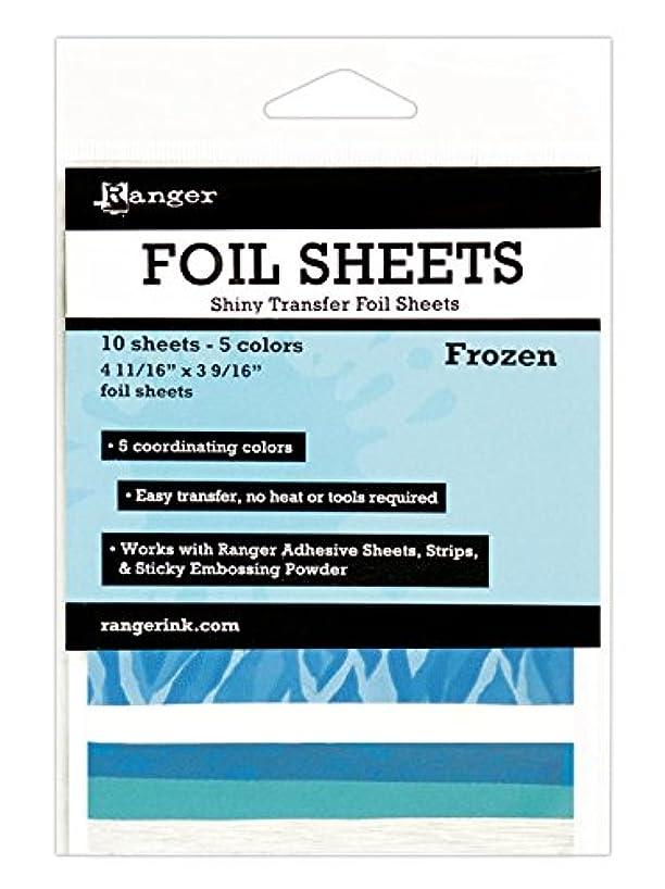 Ranger ISF48008 Frozen Inkssentials Foil Sheets (10 Pack), 4.69