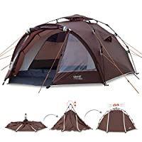 Slumit GOBI 3 Instant Tent 3 Man Waterproof Double Layer FlashFrame Quick Pitch Tent and Pack System