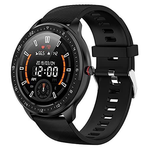 Reloj Deportivo Inteligente al Aire Libre IP67 Relojes a Prueba de Agua Reloj de Pulsera Bluetooth con Ritmo Cardíaco Rastreadores de Actividad Física Monitor de Sueño Podómetro Cronómetro (Black)