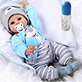 ZIYIUI Reborn Baby Puppe Junge 22 Zoll 55cm Lebensecht Weiches Silikon Vinyl Realistisch Handgemachte Magnetisch Mund Reborn Baby Junge Beste Geburtstagsgeschenke Reborn Toddler