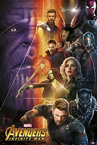 Close Up Poster Marvel Avengers Infinity War - Personnages (61cm x 91,5cm)