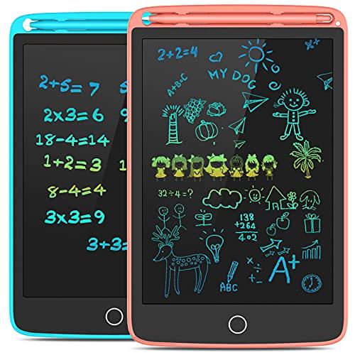 Tecboss LCD Schreibtafel 2 Pack, 8,5 Zoll Zeichenbrett mit 4 Magneten, löschbarem Handschriftblock, tragbarem Notizblock, elektronischem Kindertablett-Schreibblock für das Home School Office