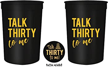 Amazon.com: Talk Thirty to Me 30th Birthday Party Cups and 1 ...