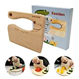Kasiden Wooden Kids Knife for Cooking,Kid Safe Knives,Kitchen Toy,Chopper,Vegetable and Fruit Cutter (For 2-8 Years Old)