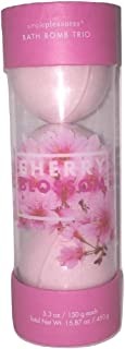 Simple Pleasures Bath & Body Soak Bomb Trio Cherry Blossom Scented Bath Fizz 5.3 oz / 150 g each - A Great Gift For Mom Gift or Present for Her, Women, or Friends