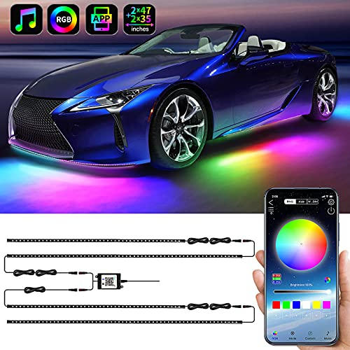 Exterior Car Underglow LED Strip Lights, Dream Color Chasing Neon Accent...