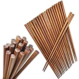 Happy Sales HSC-BC10P, Brown Bamboo Chopsticks, Lightweight Chopstick Set -10 Pairs Gift Sets