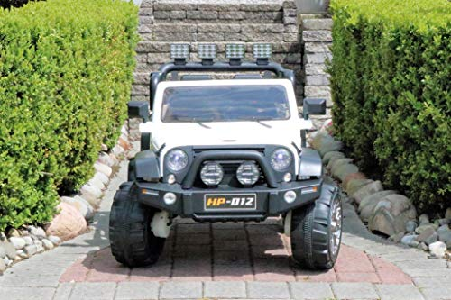 First Drive Medium Defender Truck - 2 Seater - 12v Four Motors Kids Electric Ride-On Toy Car with Remote Control, MP3 Music Playback, Aux Cord, Premium Wheels, AWD 4WD