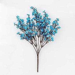 TRRT Fake Plants Silk Gypsophila Artificial Flowers, for Decoration Home Plastic Stem Bride Wedding Bouquet Mariage Cherry Blossom Fake Flower DIY Fake Flower