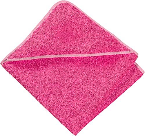 Erwin Müller Kapuzenbadetuch Frottier pink Größe 100x100 cm