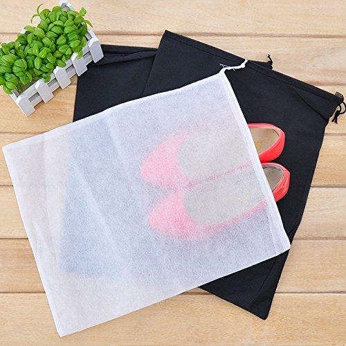Dealglad Sacchetto portascarpe da viaggio, in tessuto non tessuto anti polvere, con cordoncino, 10 pezzi