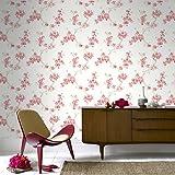 Boutique Mercutio Papier peint Motif floral Rouge