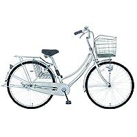 marukin(マルキン) 完全組立 26インチ自転車 LEDオートライト シマノ製内装3段ギア レイニーホーム シルバー MK-18-011 シルバー
