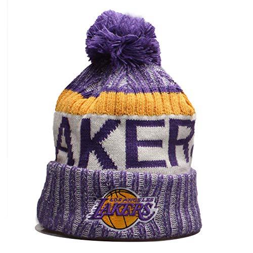 Herren Damen Warm Gestrickte Hüte Lakers/Celtics/Warriors Basketballkappen Winter Warm Gestricktemütze Outdoor Ski Pompom Cap Beanies Hat