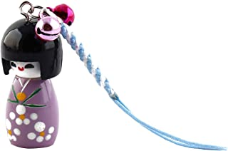 uxcell Purple Cartoon Japenese Doll Pendant Strap Hanger for Cell Phone Mp4