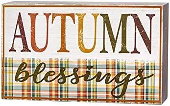 Darice 30109819 Autumn Blessing Sign Wall Decor, Multicolor
