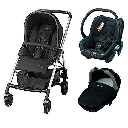 Bébé Confort Streety Next - Pack trío, color negro
