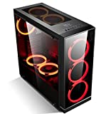 GOLDEN FIELD Z3 ATX Case Gaming PC Case Mid Tower ATX Computer Case with Touch Buttons Acrylic Panel