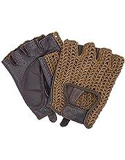 Auto bestuurder handschoenen retro vintage leer vingerloze bestuurdershandschoenen fiets