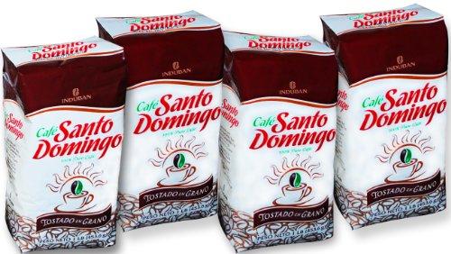 Santo Domingo Whol gerösteten Bohnen Dominikanische Kaffee (packung mit 4)
