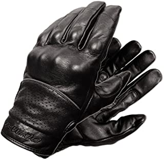 Olympia 450 Full Throttle Classic Motorcycle Gloves (Black, Large)
