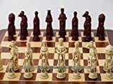 Berkeley Chess Camelot Ornamental Chess Set (Cream and Red, Board Not Included)
