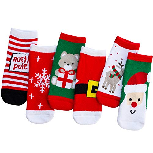 Product Image of the vanberfia Unisex Baby 6pairs Baby Kids Cartoon Christmas Holiday Toddler...