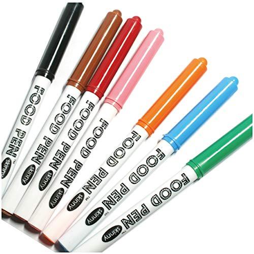 フードペン スキニー (細) 7色セット (黒、赤、オレンジ、ピンク、茶、緑、青)